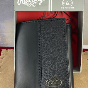 Rawlings Bases Loaded Tri-Fold Leather Wallet